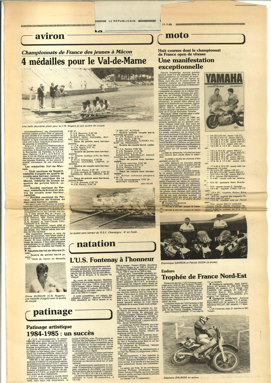 Le Républicain 11 juillet 1985